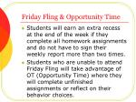 friday fling opportunity time