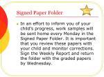signed paper folder