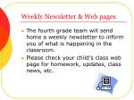 weekly newsletter web pages