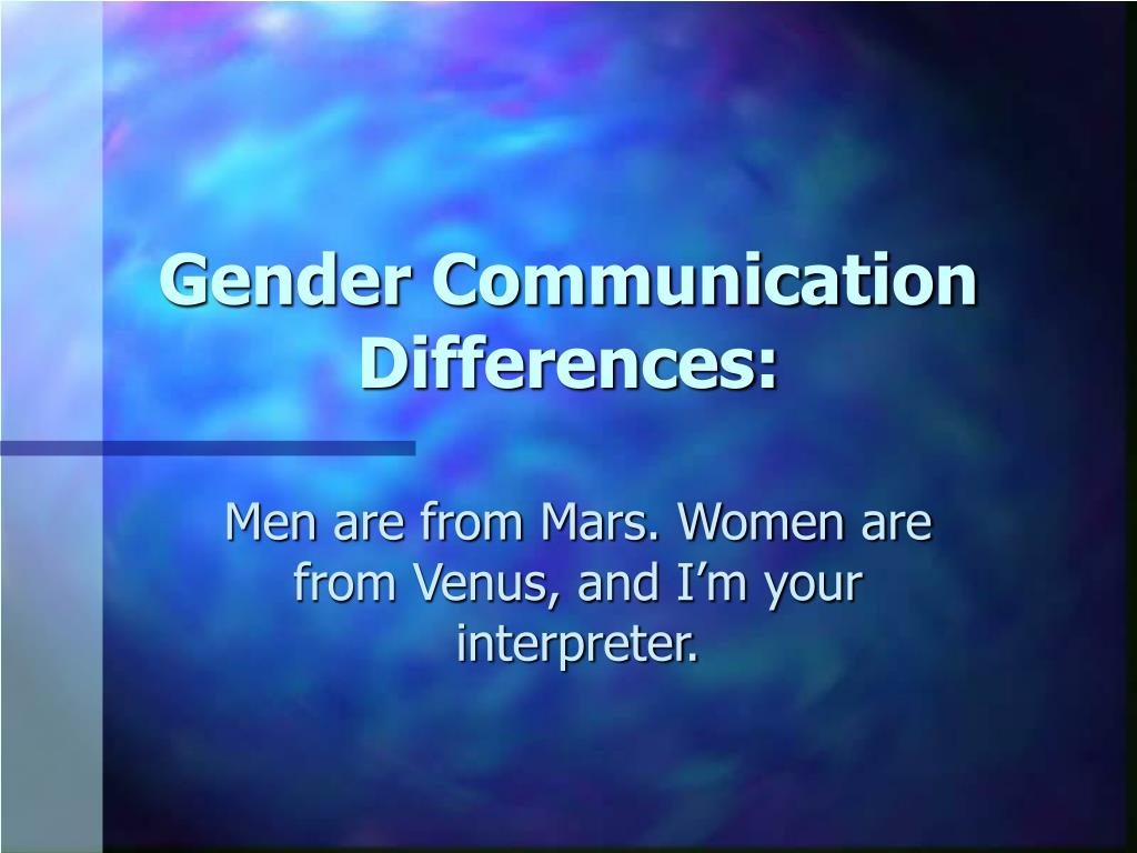 gender communication differences l.
