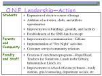 o n e leadership action