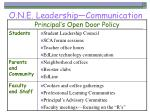o n e leadership communication