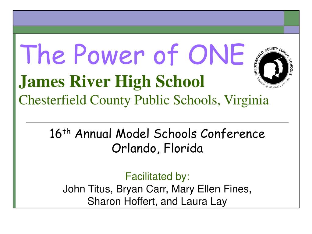 the power of one james river high school chesterfield county public schools virginia l.