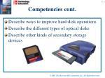 competencies cont