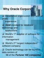 why oracle corporation