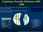 explaining mortality reduction 1980 2000