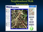 neighbourhood walk information