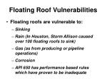 floating roof vulnerabilities