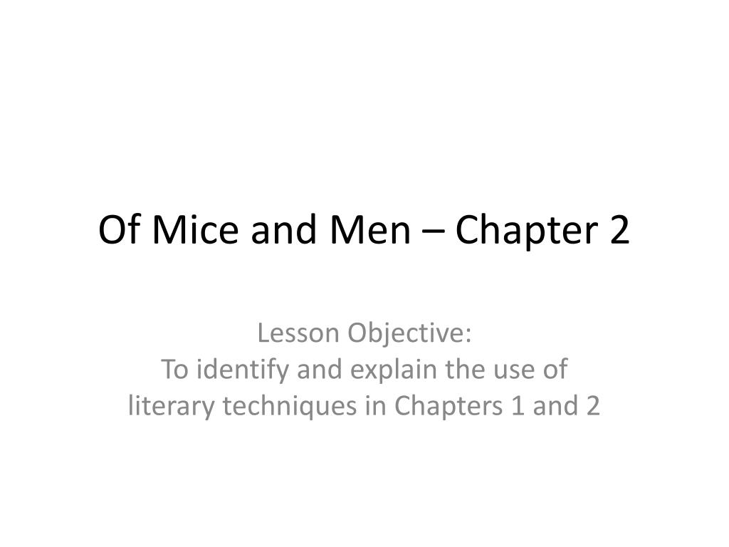 of mice and men chapter 2 l.