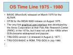 os time line 1975 1980
