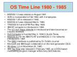 os time line 1980 1985