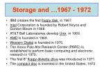 storage and 1967 1972