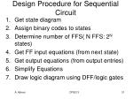 design procedure for sequential circuit
