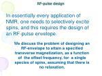 rf pulse design
