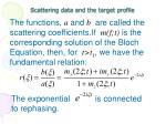 scattering data and the target profile