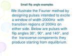 small flip angle examples