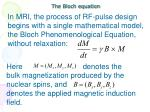 the bloch equation
