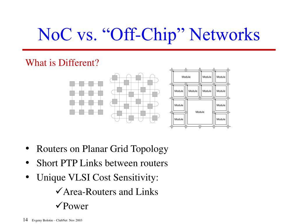 "NoC vs. ""Off-Chip"" Networks"