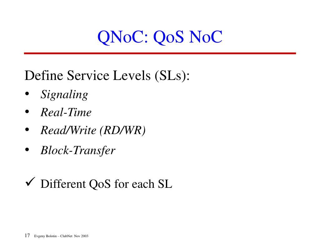 QNoC: QoS NoC