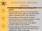 event format individual activities19