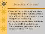 event rules continued13