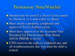 promissory note voucher