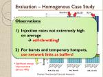 evaluation homogenous case study25