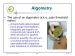 algometry
