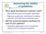 assessing the validity of guidelines
