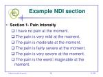 example ndi section