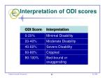 interpretation of odi scores