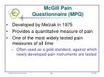mcgill pain questionnaire mpq