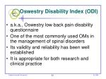 oswestry disability index odi
