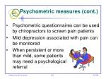 psychometric measures cont