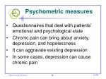 psychometric measures