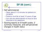sf 36 cont