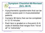 symptom checklist 90 revised scl 90 r