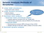 seismic analysis methods of structures