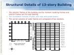 structural details of 13 story building