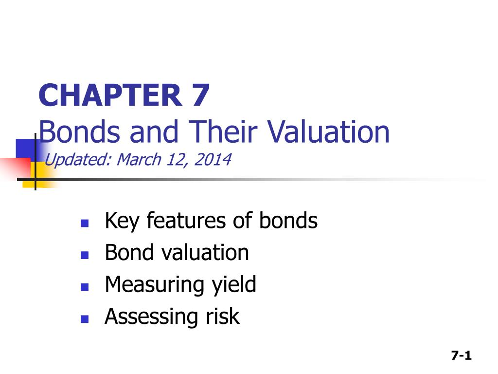 chapter 7 bonds and their valuation updated march 12 2014 l.