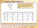 negative edge triggering