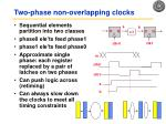 two phase non overlapping clocks