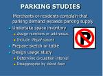 parking studies