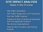 site impact analysis steps in the process