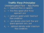 traffic flow principles uninterrupted flow key points