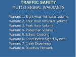 traffic safety mutcd signal warrants