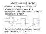 master slave jk flip flop
