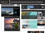 advertorials with embedded video content and slideshows