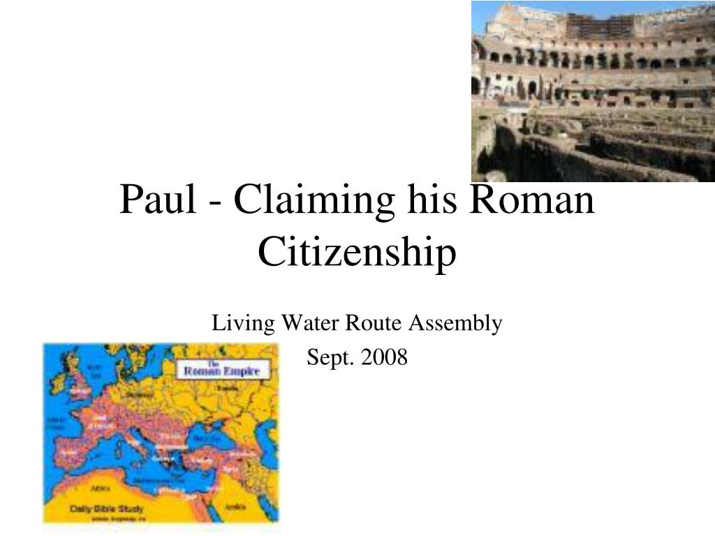 paul claiming his roman citizenship l.