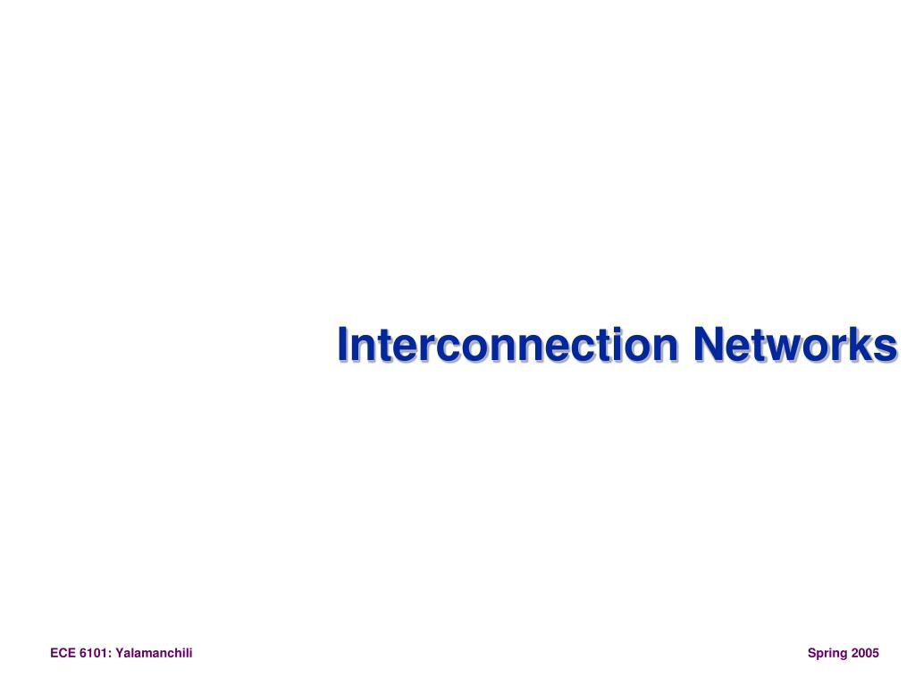 interconnection networks l.